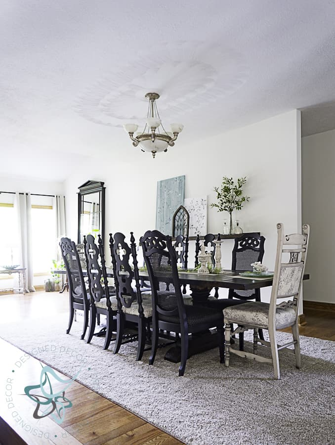 picture of a dining room makeover with dining room table