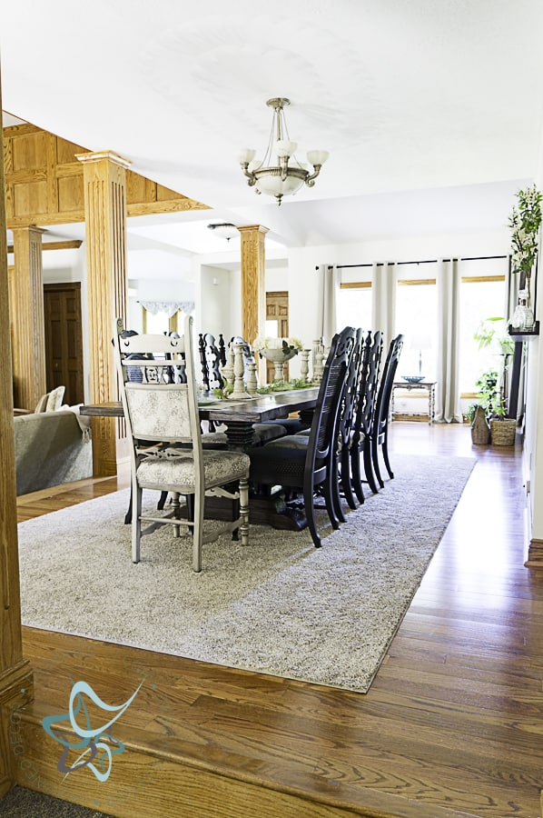 image of dining room table makeover