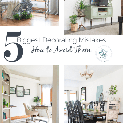 Top 5 biggest decorating mistakes