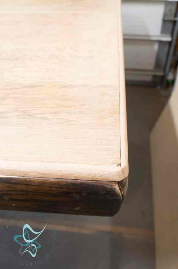 adding oak quarter round to edges of tabletop
