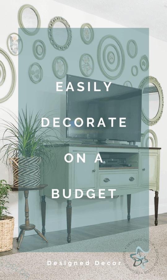 graphic of  how to easily decorate on a budget