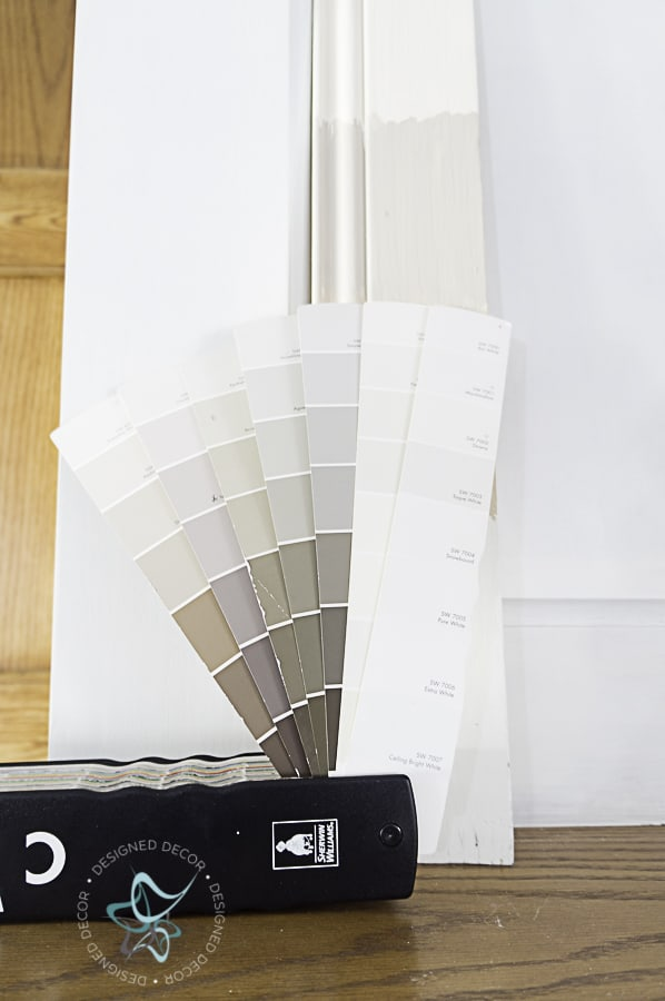 image of a Sherwin Williams paint swatch deck for color matching