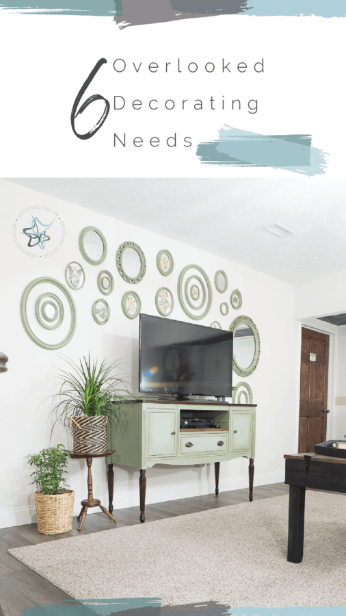 Graphic of 6 overlooked decorating needs