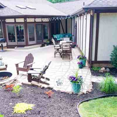 Revealing a creative DIY patio extension with pavers