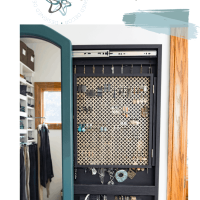 How to build a sliding mirror jewelry cabinet