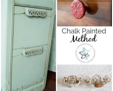 How to Paint Hardware- Chalk Painted Method- Designed Decor