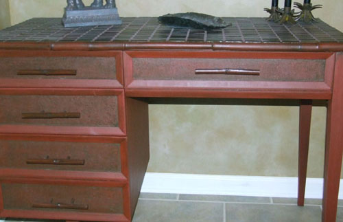 Renewed sewing cabinet