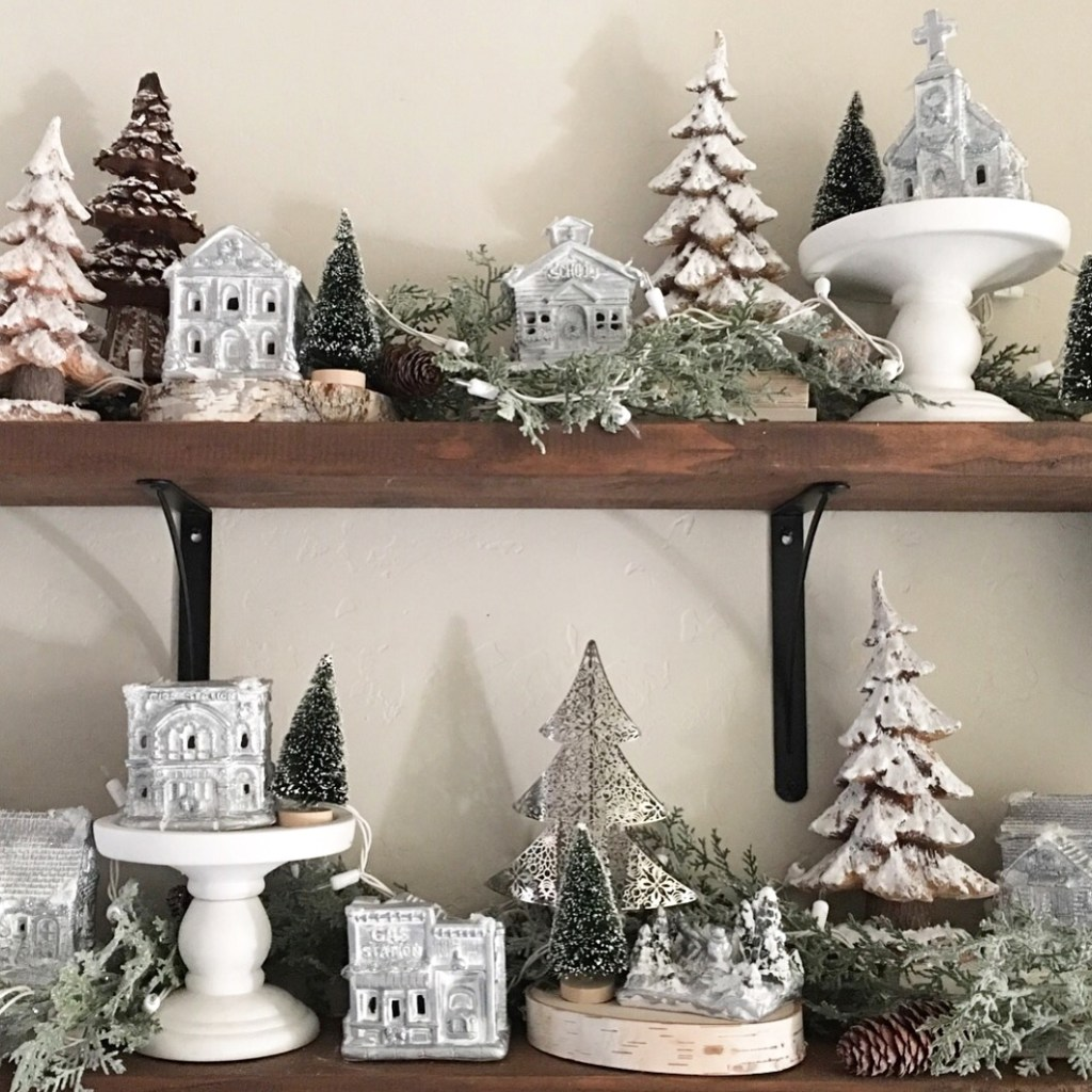 rustic christmas village