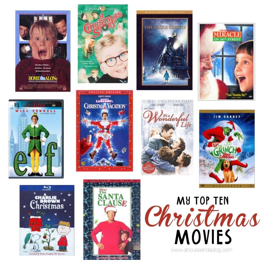 Top Ten Favorite Christmas Movies | designedsimple.com