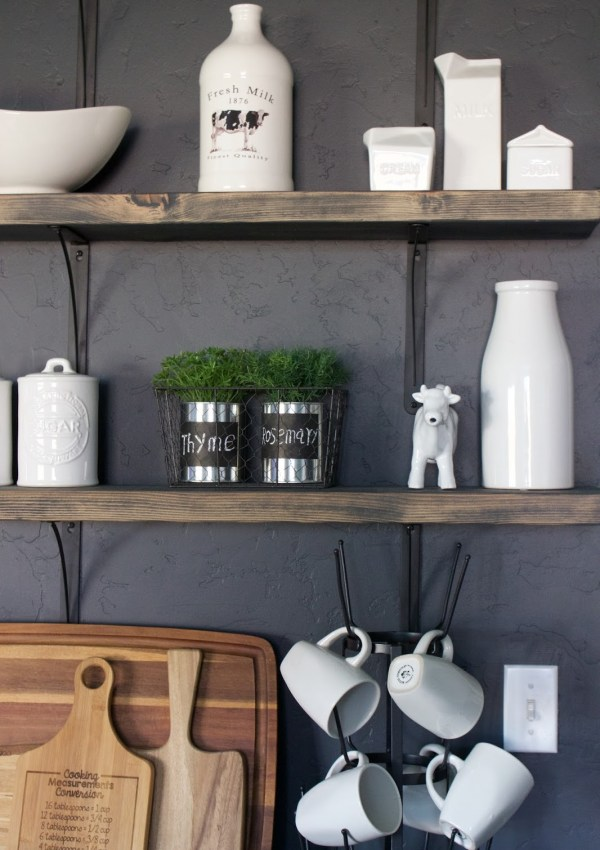 DIY Kitchen Open Shelving
