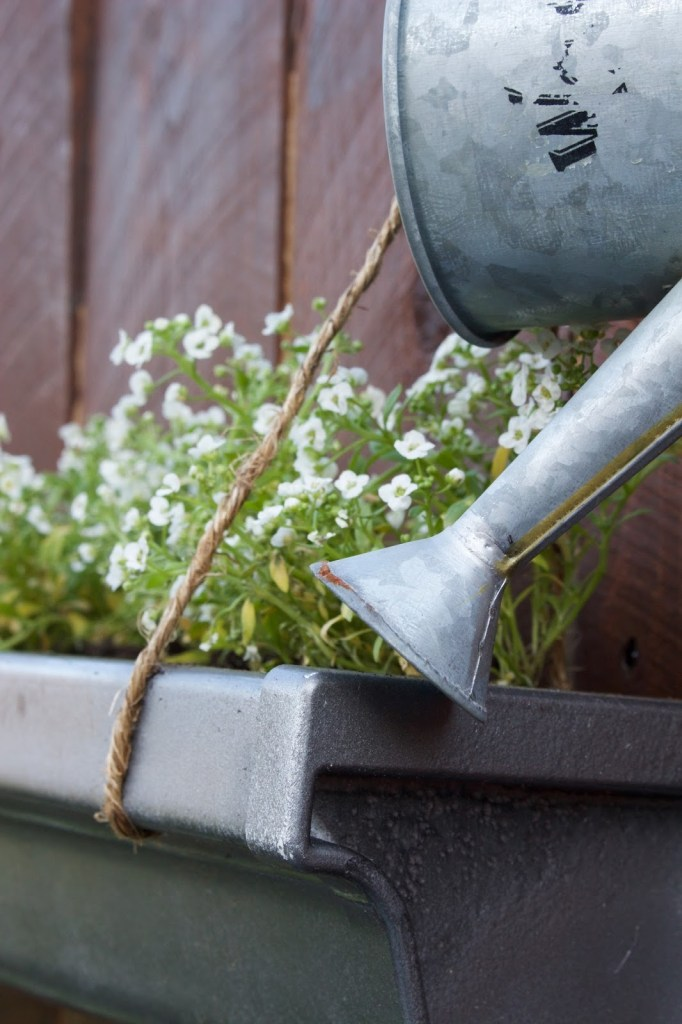 do it herself home depot hanging gutter planter