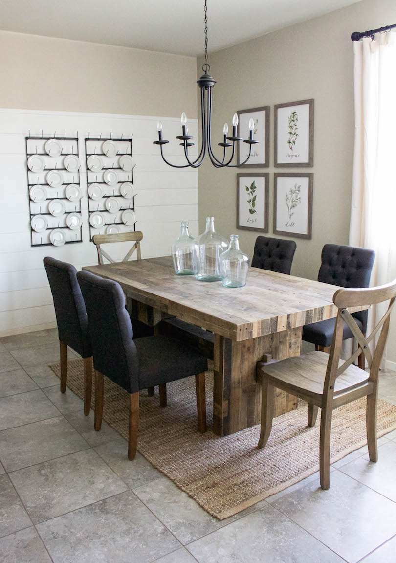 Farmhouse Dining Room Reveal - Designed Simple on Dining Room Curtains Farmhouse  id=57353
