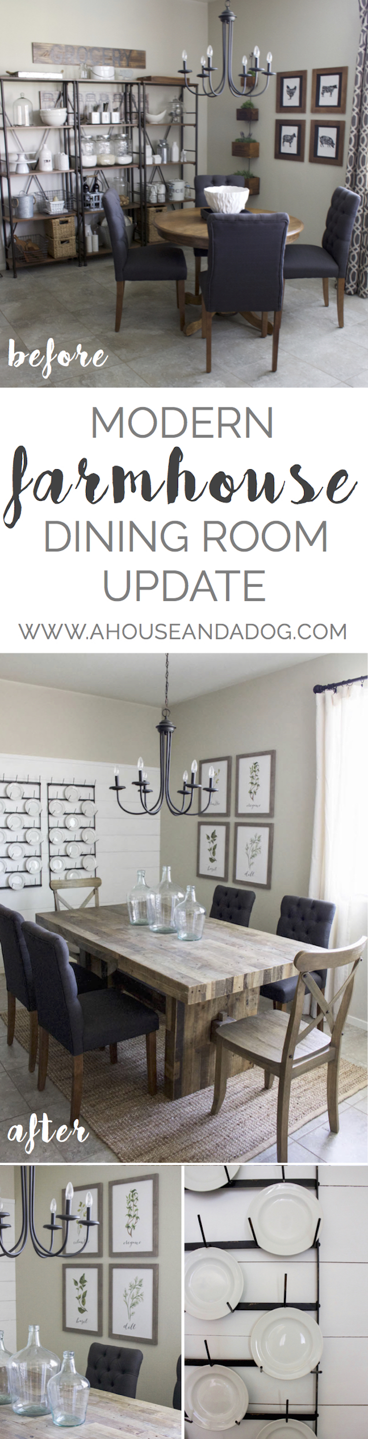 modern farmhouse dining update