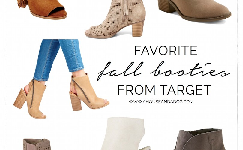 Fall booties from Target!