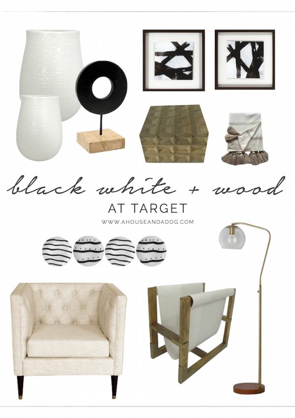 Black, White + Wood Decor at Target