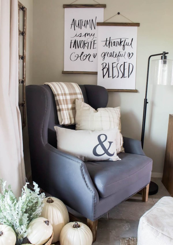 Decorating for Fall – Adding Small & Simple Touches