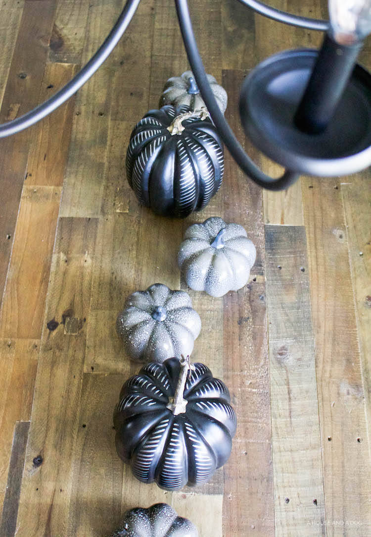 DIY Modern Black Pumpkin - Halloween Craft, Simple Halloween Tablescape | designedsimple.com