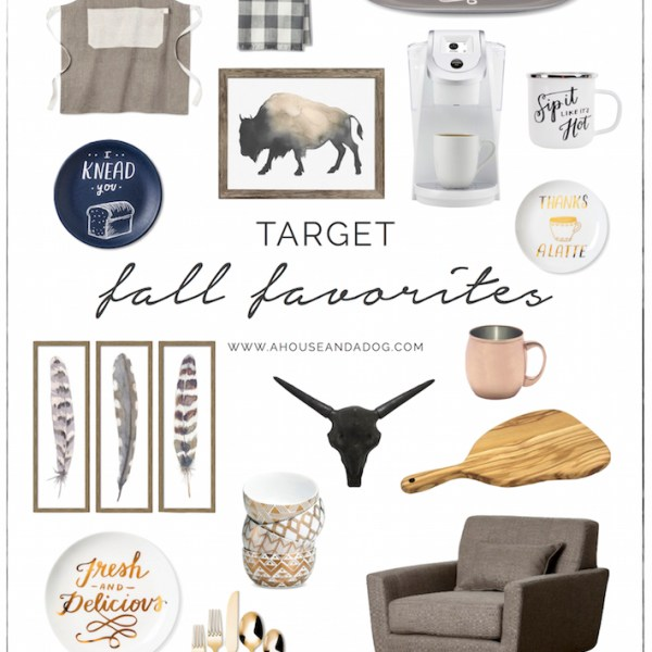 Fall Favorites from Target - Decor, Art & Kitchen | designedsimple.com