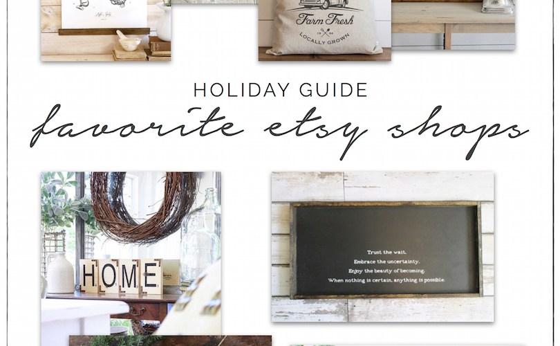 Holiday Shopping Guide - Etsy, Shop Small, Shop Handmade   designedsimple.com