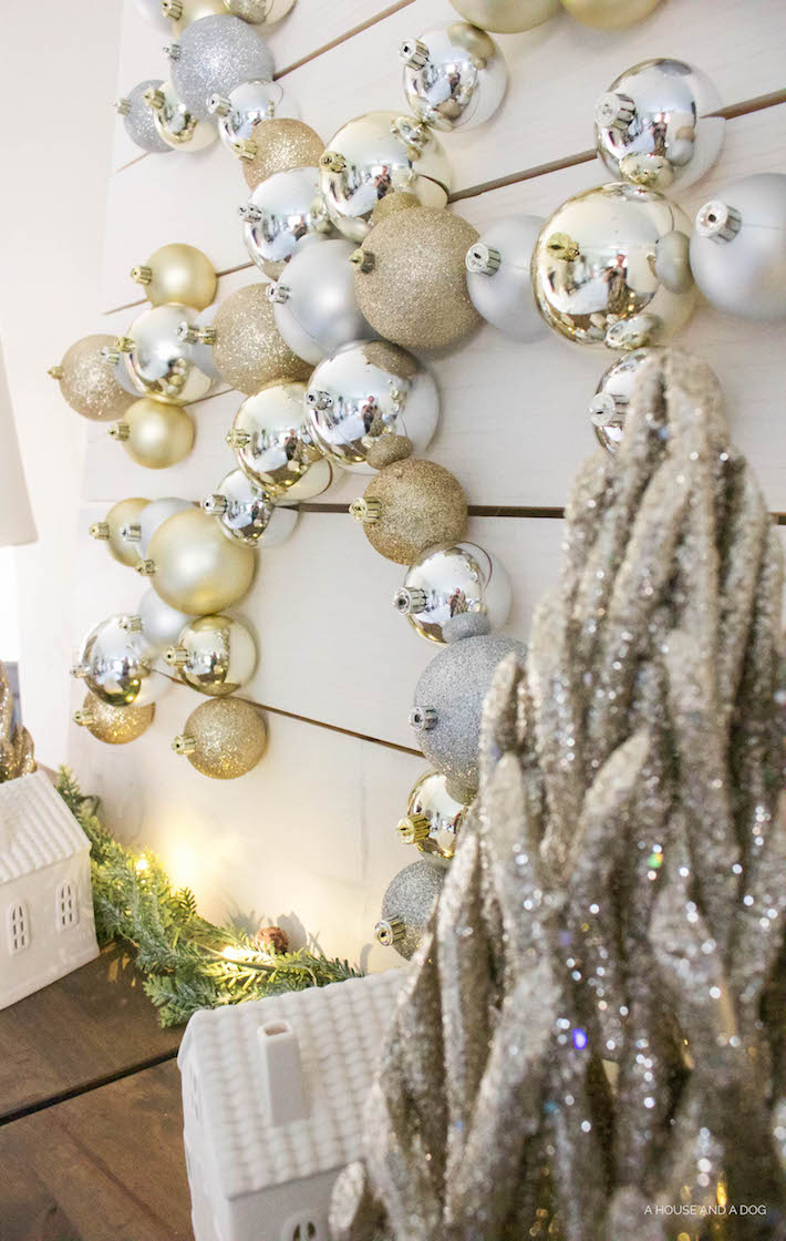 DIY Snowflake Ornament Display with The Home Depot | Christmas DIY | designedsimple.com