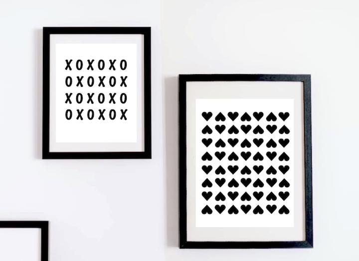 FREE Modern Valentine's Printables | designedsimple.com