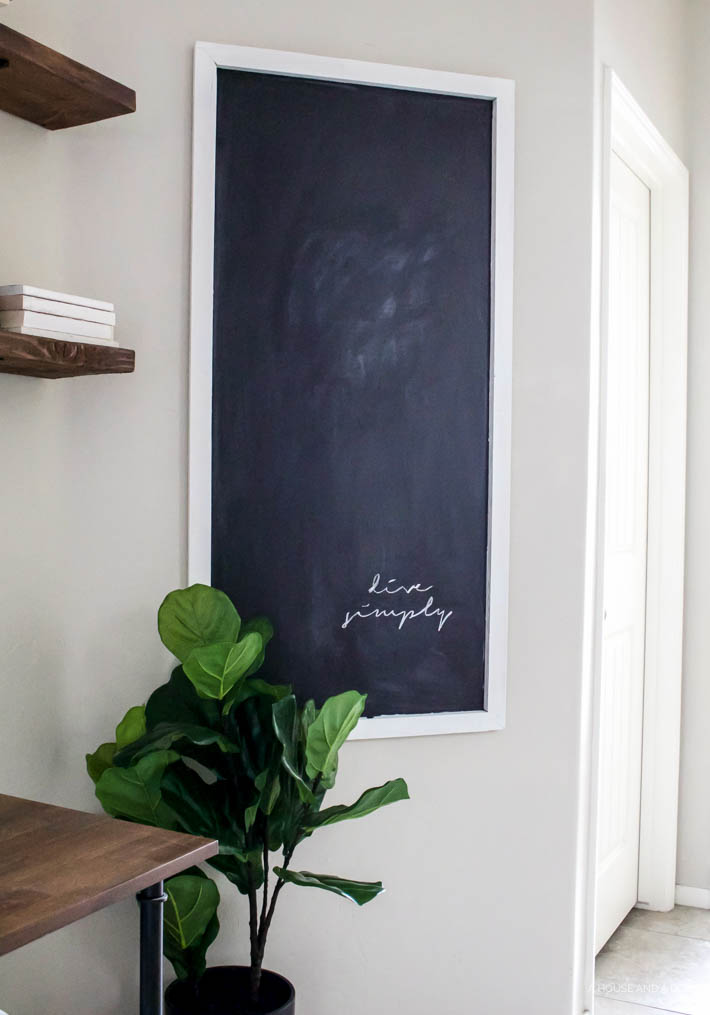 Easy DIY Chalkboard For Less Than $12 | designedsimple.com
