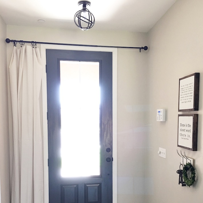 Farmhouse Front Door & Window Treatment   designedsimple.com