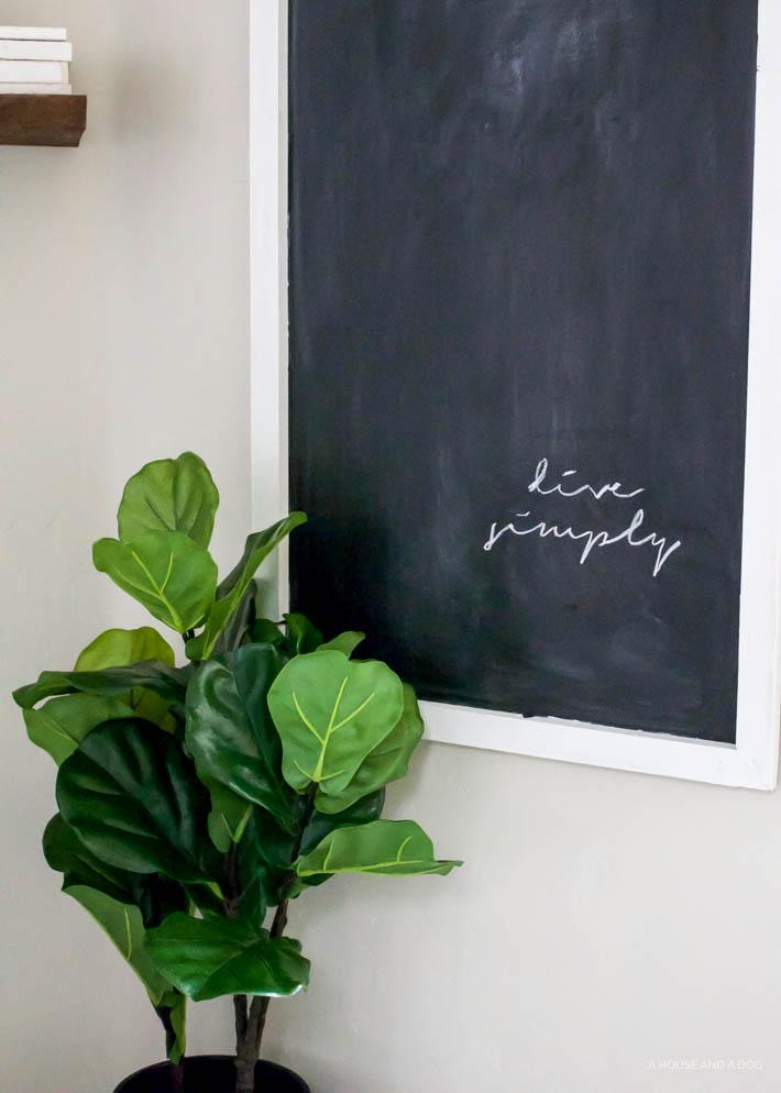 Easy DIY Chalkboard For Less Than $12 | designedsimple.com
