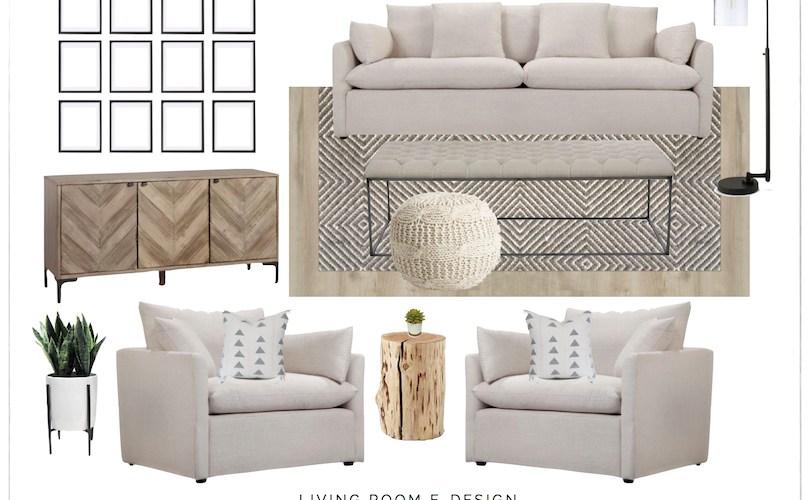 Living Room e-Design with Joss & Main   designedsimple.com