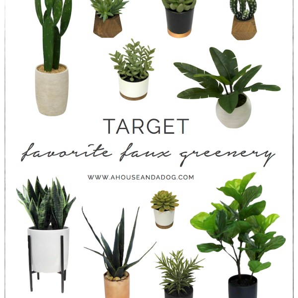 Favorite Faux Greenery from Target | designedsimple.com