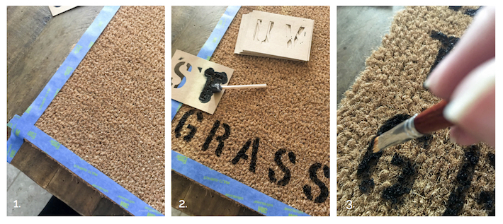 DIY Summer Welcome Mat | designedsimple.com