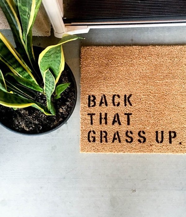 DIY Summer Welcome Mat