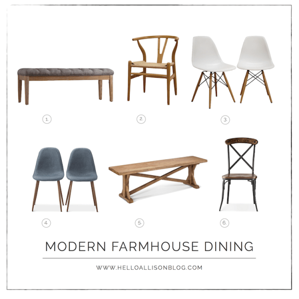 Modern Farmhouse Dining Chairs & Benches | designedsimple.com