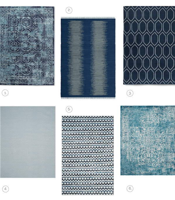 Modern Blue Rugs