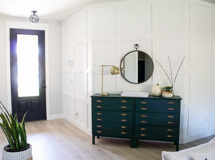 DIY Paneled Wall for Less Than $80 | designedsimple.com