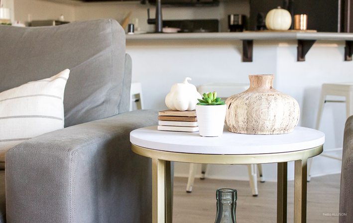 Accent Table Makeover with MudPaint | designedsimple.com