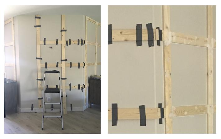 DIY Paneled Wall for Less Than $80 | designedsimple.com