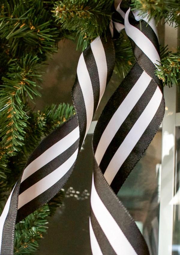 Black + White Christmas Porch