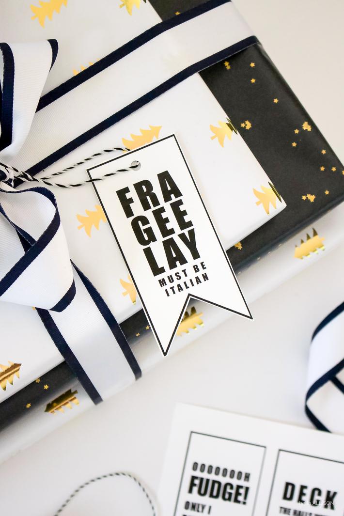 FREE Gift Tag Printables | A Christmas Story Printable | designedsimple.com