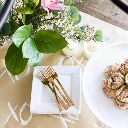 DIY Valentine Table Runner + Simple Brunch