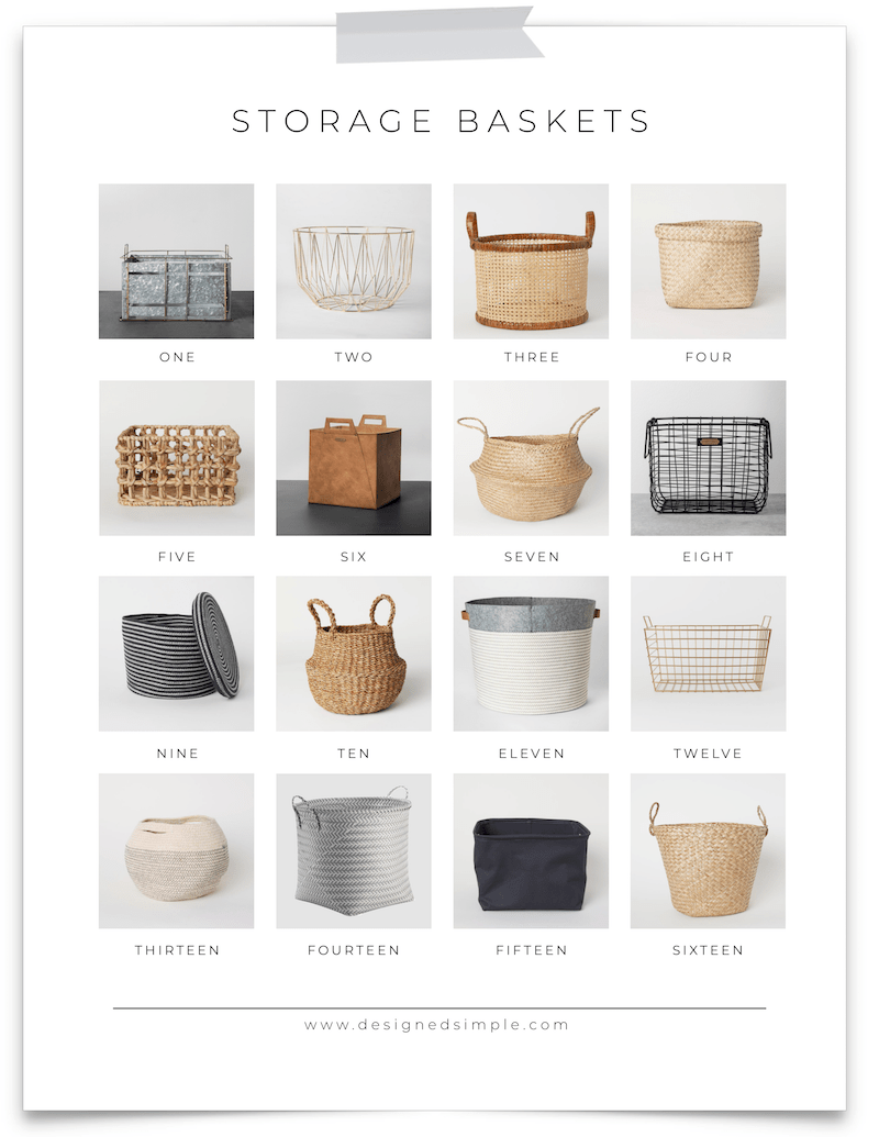 16 Decorative Storage Baskets | Declutter and organize every room of the house! | designedsimple.com