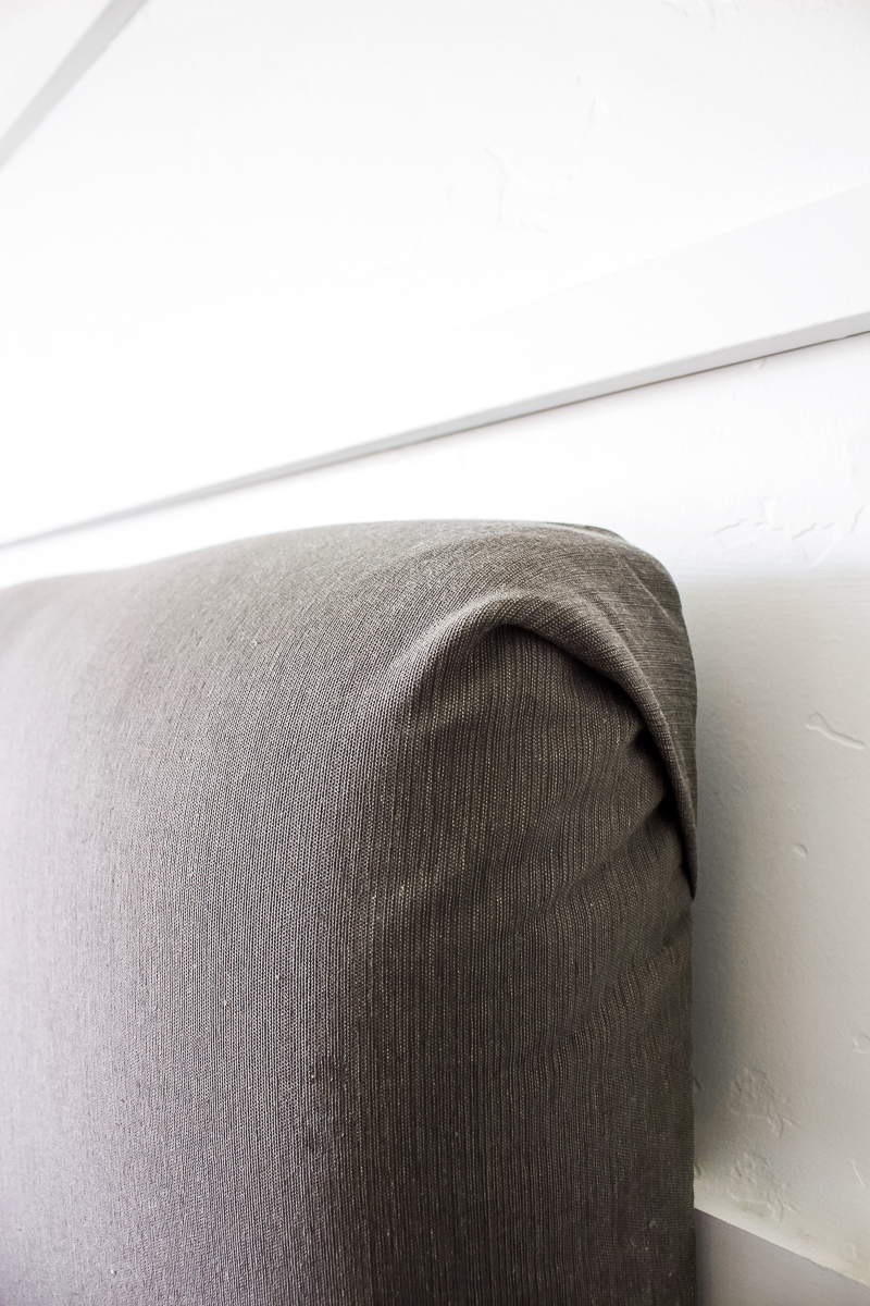How to Recover a Headboard | Totally change the look of your bed with this simple DIY! | Designed Simple | designedsimple.com