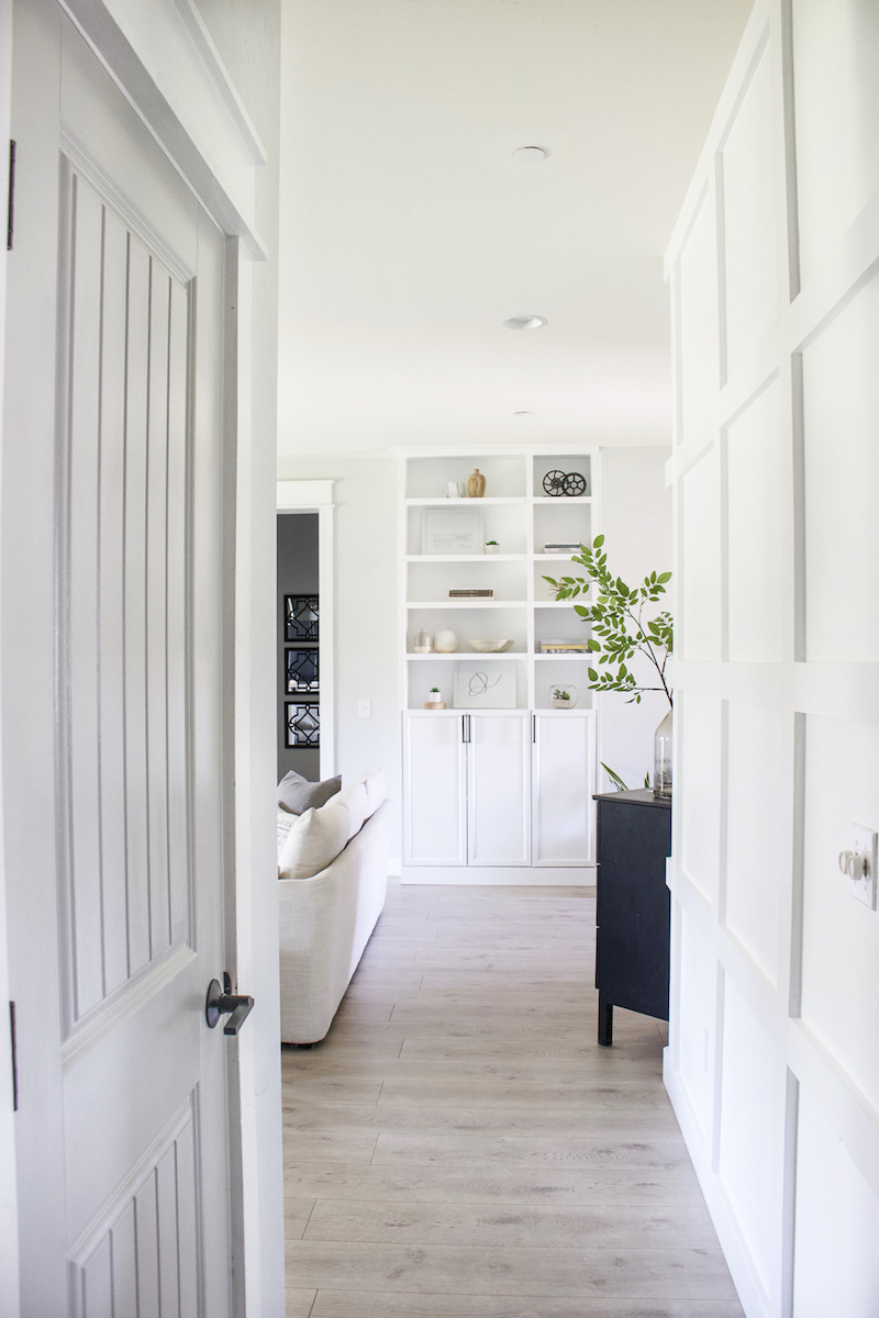 Sharing all the details on how to change a doorknob and update the doors in your home. Plus I rounded up 9 matte black favorites! | Designed Simple | designedsimple.com
