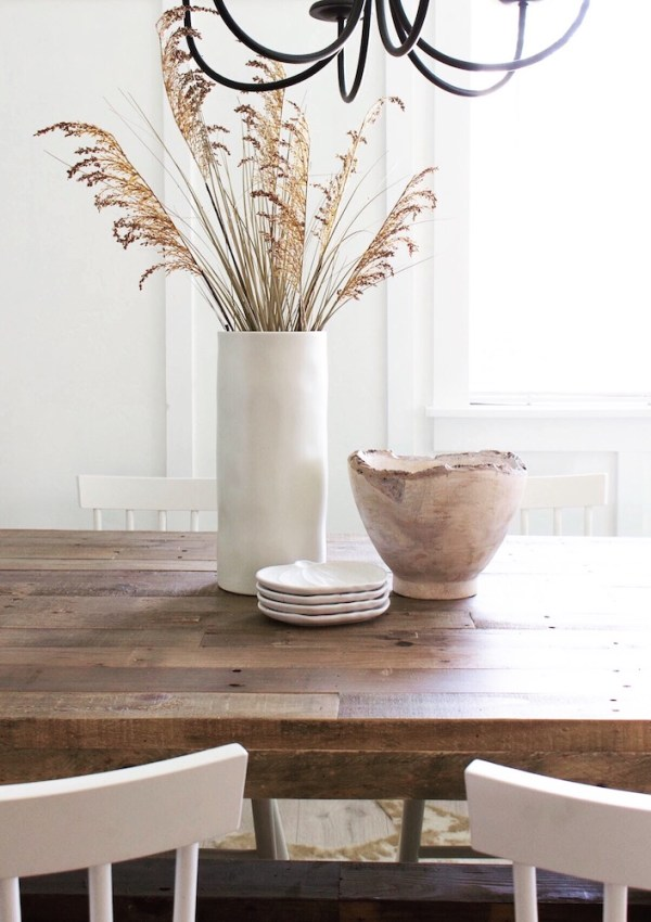Whitewashed Wood Bowl & Simple Fall Decor
