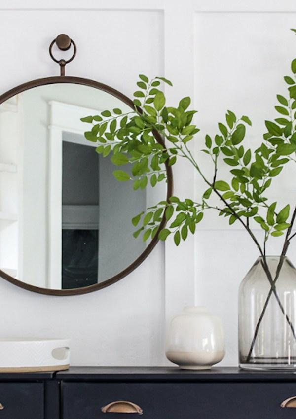 6 Round Hoop Mirrors