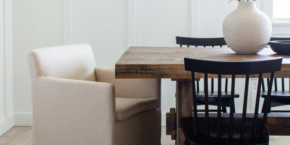 12 Slipcovered Dining Chairs Designed Simple