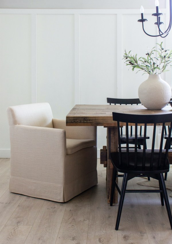 12 Slipcovered Dining Chairs