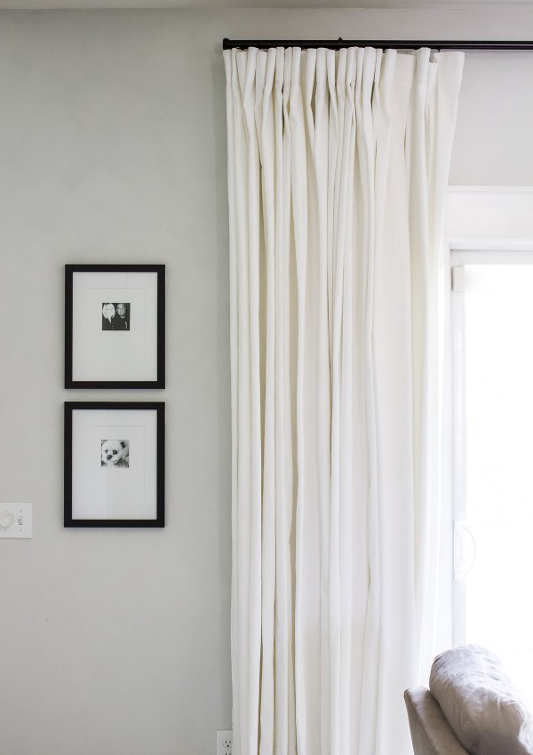 Easy Window Treatment for a Sliding Glass Door