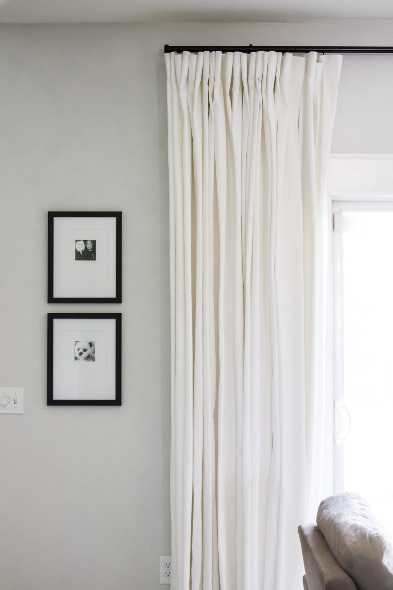 Easy Window Treatment for a Sliding Glass Door | I finally figured out the secret! | Designed Simple | designedsimple.com