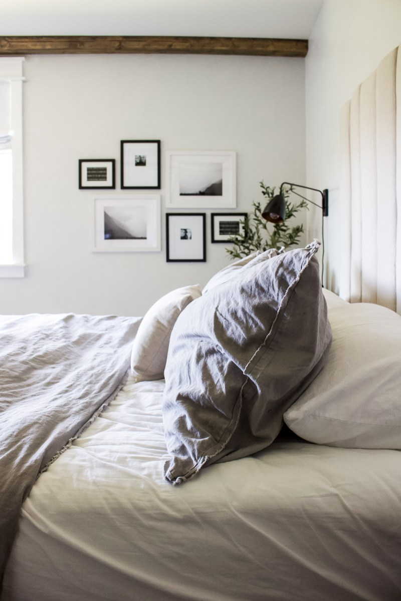 Modern Vintage Master Bedroom Makeover | Simple and sophisticated with a touch of vintage charm! | Designed Simple | designedsimple.com
